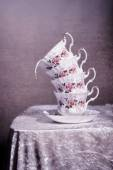 Teacup Stack — Stock Photo