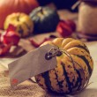 Pumpkins With Label — Stock Photo #54344077