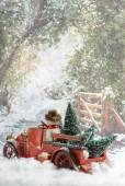 Truck Carrying Christmas Trees — Foto de Stock
