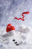 Melting Snowman — Stock Photo
