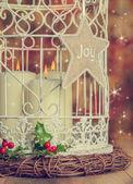 Vintage Christmas Candles — Stock Photo