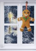 Gingerbread Man Decoration — Stock Photo