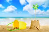 Sandcastle On The Beach — Stock Photo