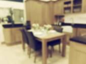 Kitchen Background Blur — Stock Photo