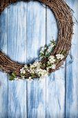 Springtime Wreath — Stock Photo