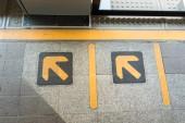 Yellow arrows — Stock Photo