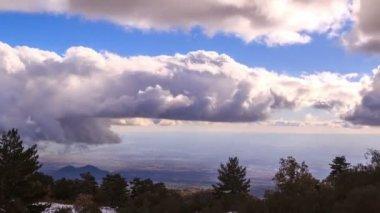 Nuvens sobre sicília — Vídeo stock
