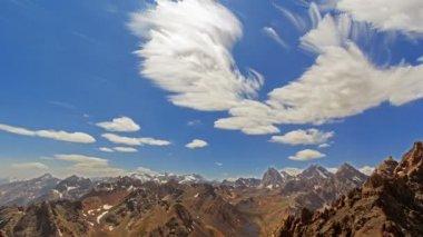 Bright summer mountain landscape — Stock Video