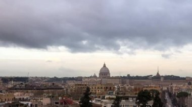 Clouds over Rome panorama — Stockvideo