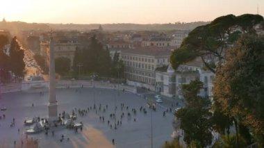 Piazza del Popolo, Rome, Italy — Stock Video