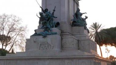 Monument to Garibaldi.  Rome — Stockvideo