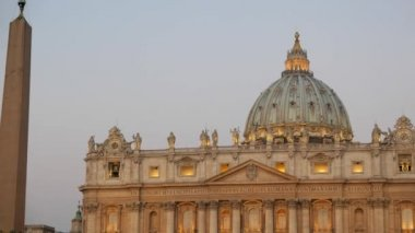 St. Peter's Basilica,  Rome, Italy — Stock Video