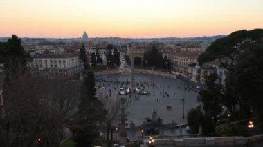 Piazza del Popolo, Rome — Stock Video