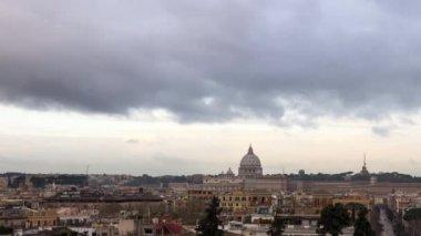Panorama de Piazza del Popolo, Roma — Vídeo de Stock