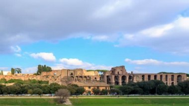 Ruins of  Palatine Hill,    Rome, Italy — Stock Video
