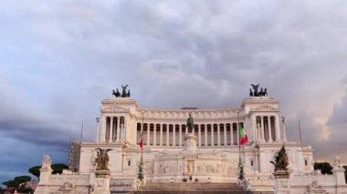 Vittorio Emanuele monument, Rome — Stock Video