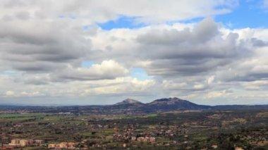 Panorama of Tivoli, Italy — Stock Video