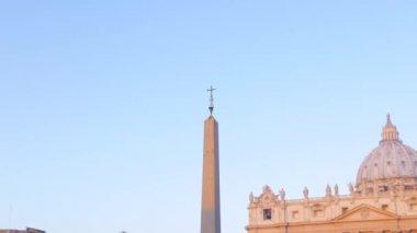 Obelisk at  St. Peter's Square, Rome — ストックビデオ