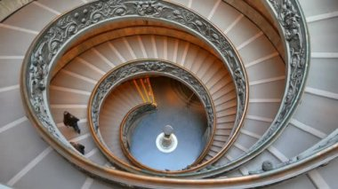 Spiral Staircase. Vatican Museum, Rome — Stock Video