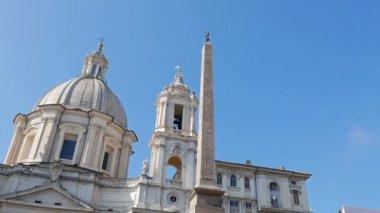Fountain of Neptune. Piazza Navona, Rome — Stok video