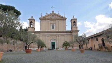 Kirche Sant'Anastasia. Rom, Italien — Stockvideo