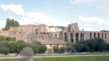 Circo Massimo, Palatine Hill. Zoom. Rome, Italy — Stock Video