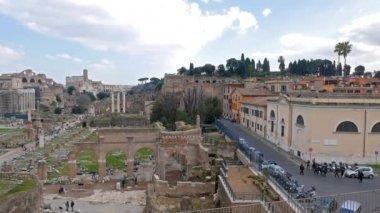 General view. Roman Forum. Rome, Italy — Stock Video
