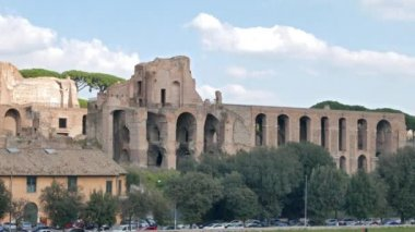 Ruins on the Palatine Hill. Rome, Italy — Stock Video