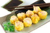 Steamed shrimp dumplings — Stock Photo