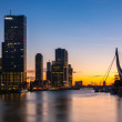 Koningshaven rotterdam in the blue hour — Stock Photo #55897939