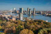 Rotterdam skyline from Euromast — Stock Photo