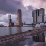 Rotterdam skyline at dusk — Stock Photo #63791319