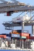 Container crane ship — Stock Photo