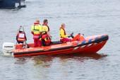 Rescue squad boat — Stock Photo