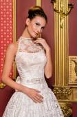 Bride in a luxurious interior — Stock Photo