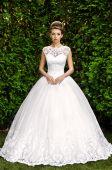 Woman in wedding dress — Stock Photo