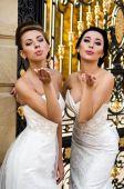 Women in wedding dress — Stock Photo