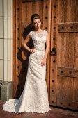 Mujer con vestido de novia — Foto de Stock