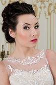 Beautiful bride face — Stock Photo