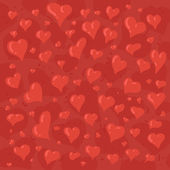 Hand drawn illustration of different lovely hearts — Stockvector