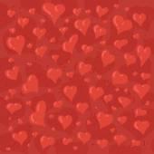 Hand drawn illustration of different lovely hearts — Vetor de Stock