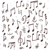 Set of music notes — Stock Vector