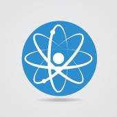 Electronics transform. The atomic model icon — Stock Vector
