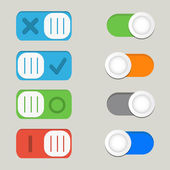 Toggle switch icons — Stock Vector