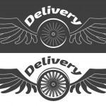 Logos delivery company — Stock Vector #77265998