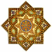 Ancient tiled pattern with geometrical design — Stock Photo