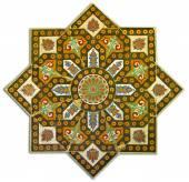 Rich vintage tiled pattern decoration — Stock Photo