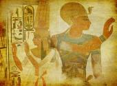 Ancient Egypt paintings wallpaper — Stock Photo