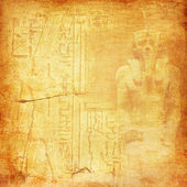 Ancient Egypt background with pharaoh and hieroglyphics — Stock Photo