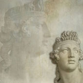 Antique statue background — Stock Photo